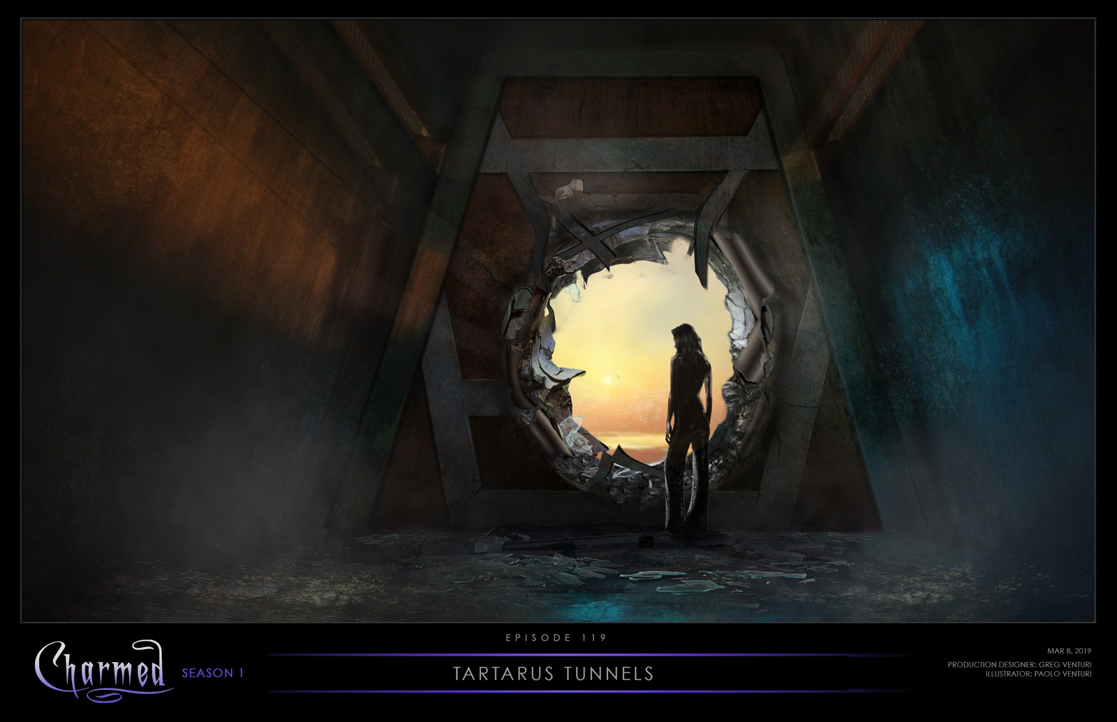 CHARMED: S1 - TARATRUS AFTERWORLD TUNNEL - CONCEPT ILLUSTRATION