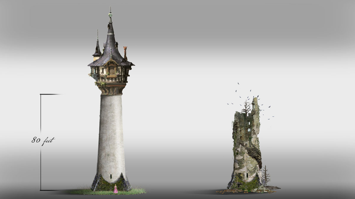 ONCE UPON A TIME: S7 - RAPUNZEL'S TOWER (PRE & POST) - CONCEPT (ILLUSTRATION: PAOLO VENTURI)