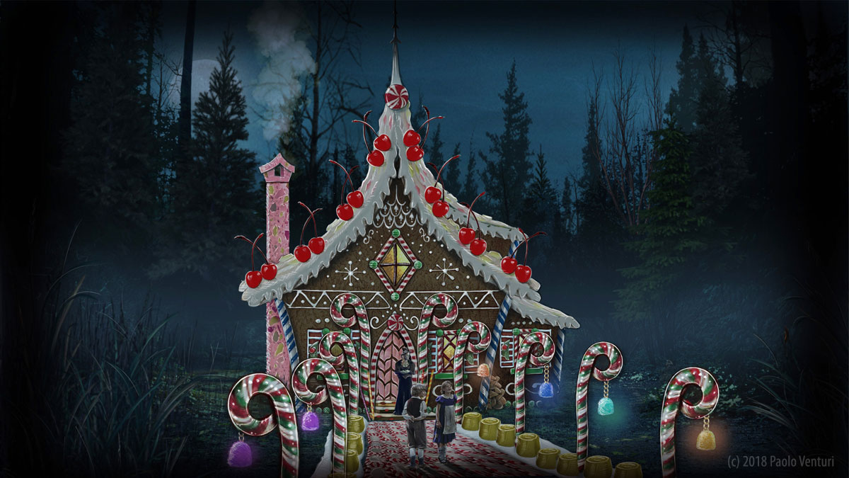 ONCE UPON A TIME: S7 - GINGERBREAD HOUSE - CONCEPT (ILLUSTRATION: PAOLO VENTURI)