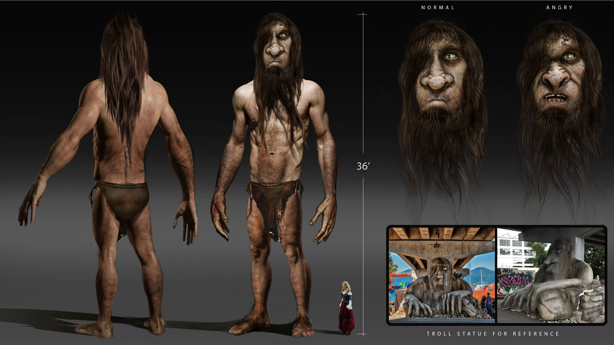 ONCE UPON A TIME: S7 - TROLL CREATURE - CONCEPT (ILLUSTRATION: PAOLO VENTURI)