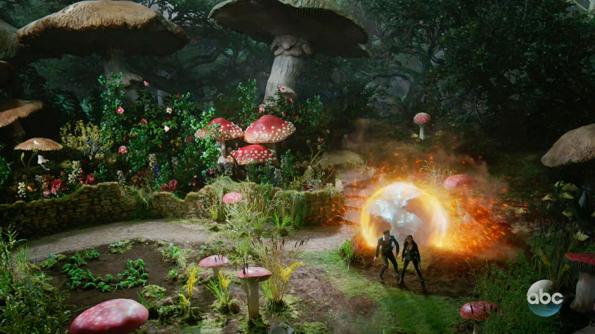 "ONCE UPON A TIME: S7 - NEW WONDERLAND ""MUSHROOM MEADOW"" - SCREEN STILL"