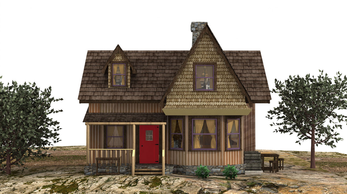 "ONCE UPON A TIME: S7 - ""EDGE OF REALMS"" CABIN - CONCEPT - ILLUSTRATION: PAOLO VENTURI"