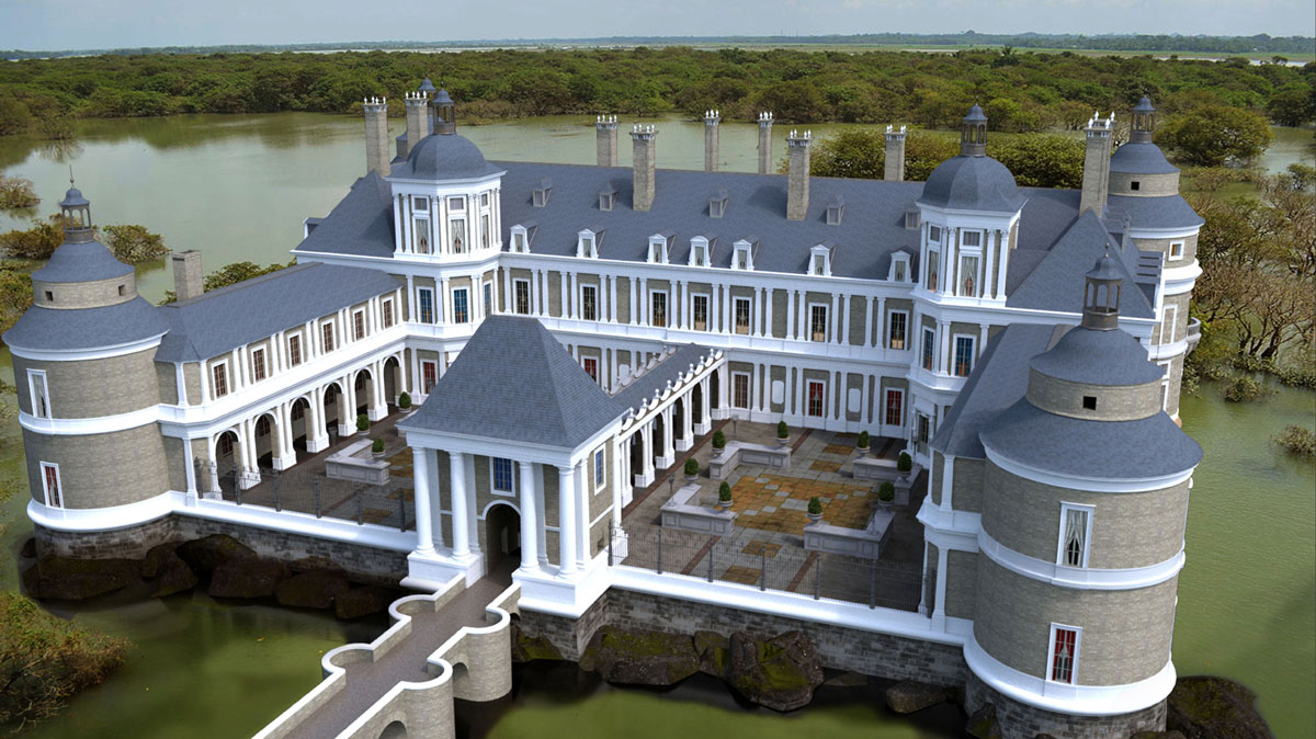 "ONCE UPON A TIME: S7 - ""BAYOU CASTLE"" - CONCEPT - 3D/RENDERING: CHAD HARMS"