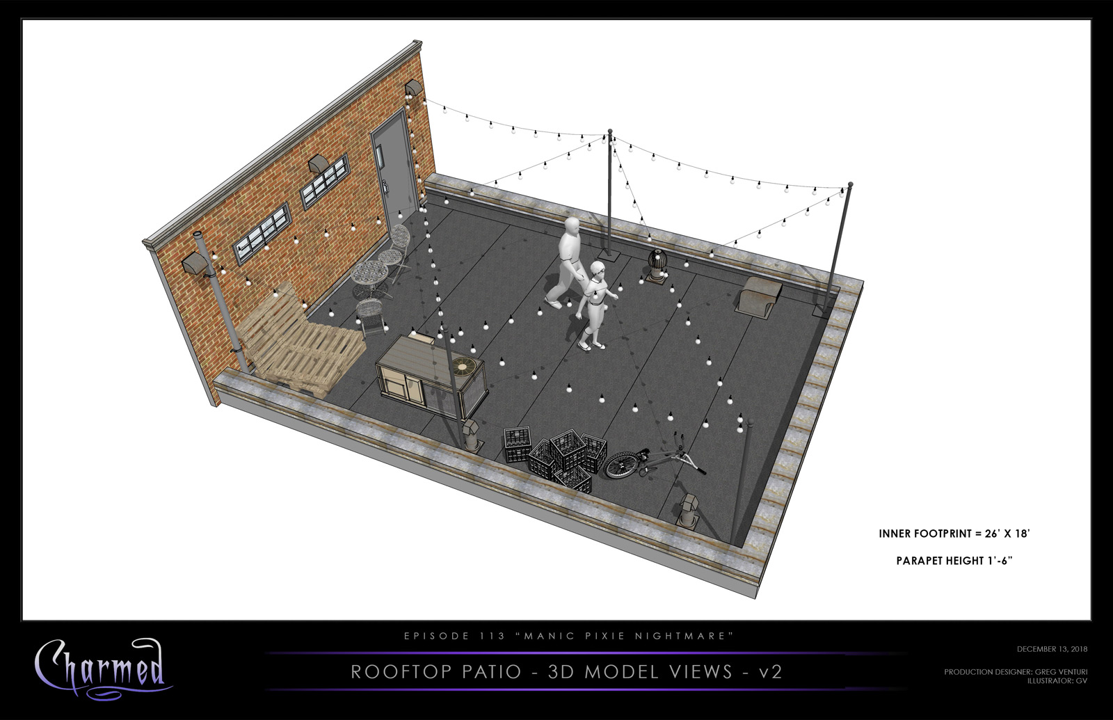 CHARMED: S1 - ROOFTOP - 3D MODEL VIEW