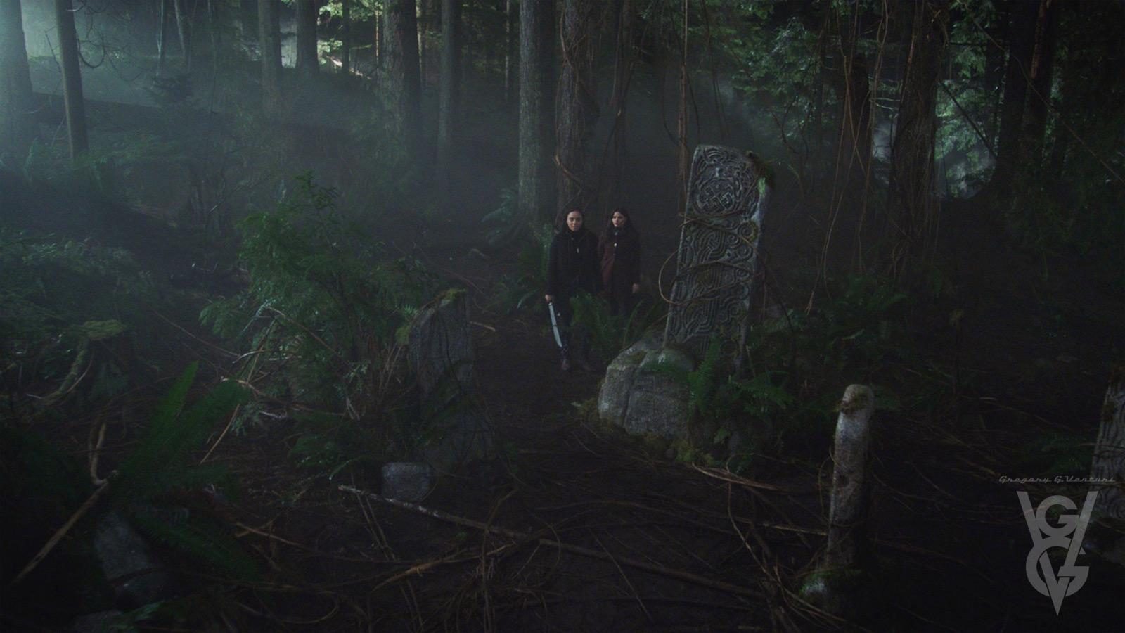 CHARMED: S1 - CELTIC STONE CLEARING - DRESSED LOCATION - SCREEN STILL