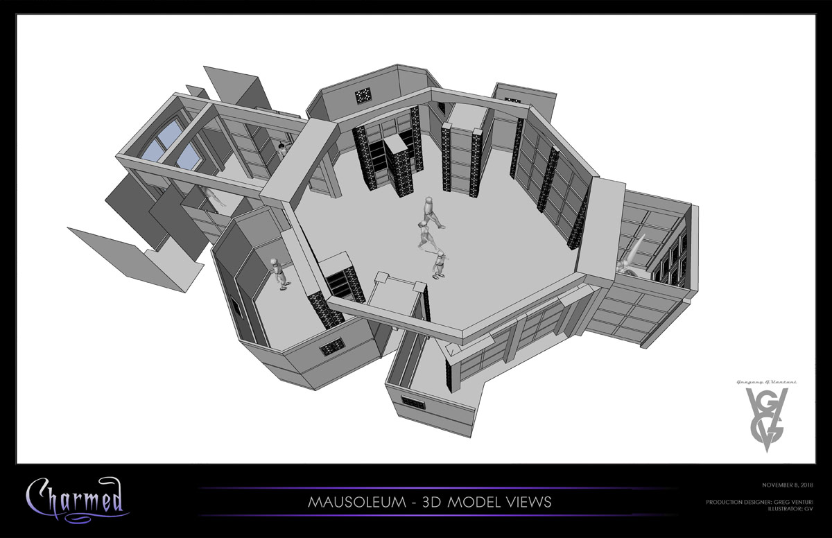 CHARMED: S1 - MAUSOLEUM - 3D MODEL VIEW